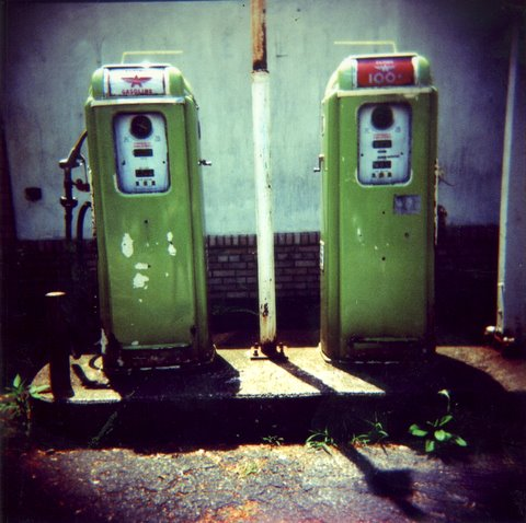"""Green Gas Pumps"" by Barbara L. Hanson"