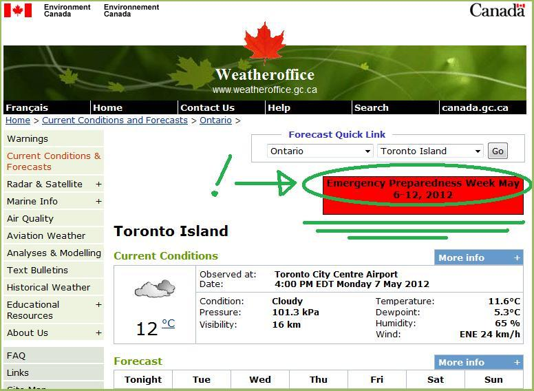 Environment Canada with Red Banner Link