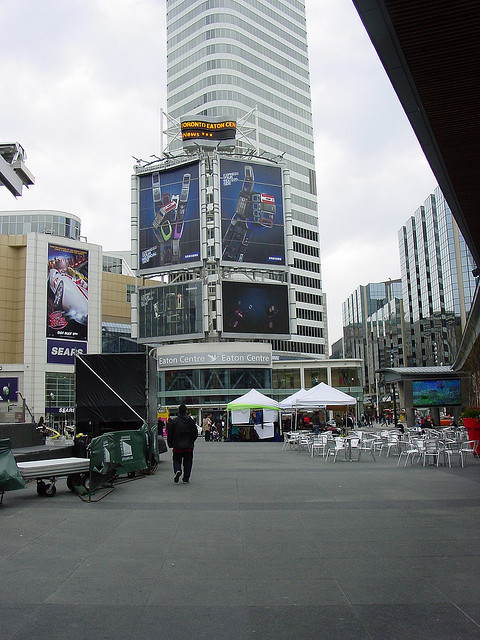 """Yonge Dundas Square in repose"" by nicblockley"