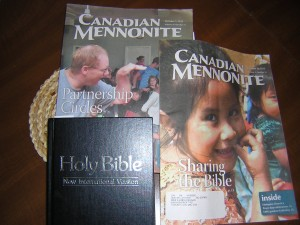 """Bible and Canadian Mennonite Magazines"" image by Mike DeHaan"