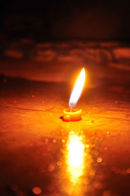 One Diwali Candle for the Festival of Lights. Image by denharsh (Harsh Agrawal) under CC license.