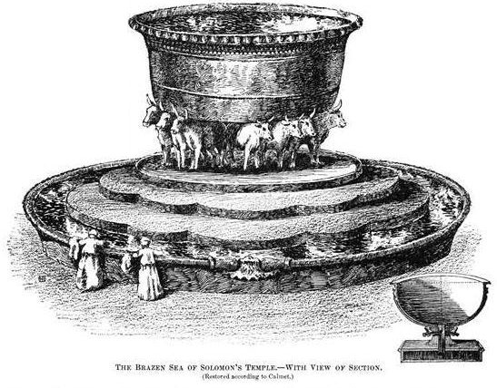"An Artist's Rendition of Solomon's Molten Sea"" : image from the Jewish Encyclopedia 1901-06"