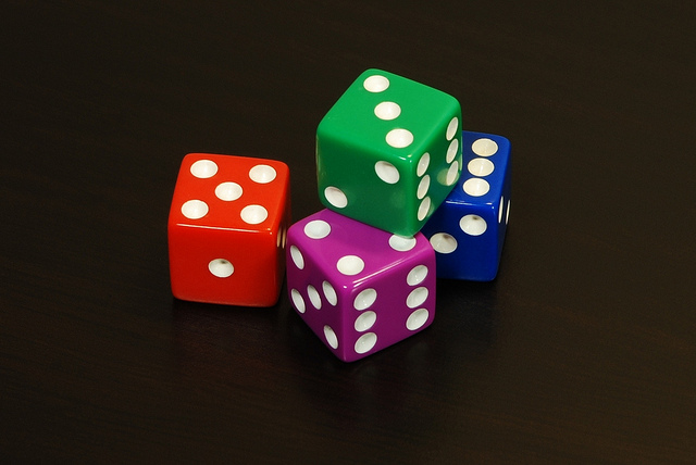 """""""Four Random Dice"""" : Image by dullhunk"""