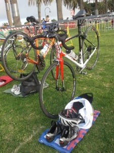 """Triathlon Transition Zone in St. Kilda"" image by pfctdayelise (Brianna Laugher)"
