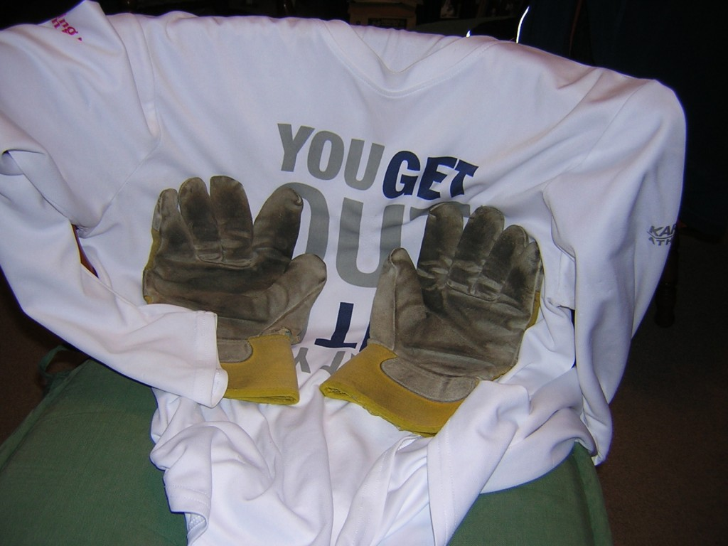 """Winter Running Shirt and Gloves"" image by Mike DeHaan"