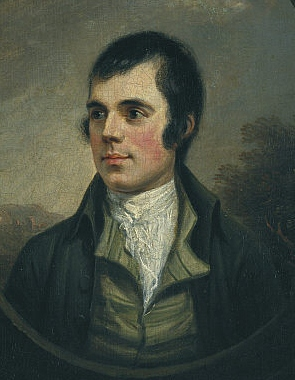 """Robbie Burns painted by Alexander Nasmyth"" image owned by Scottish National Portrait Gallery"