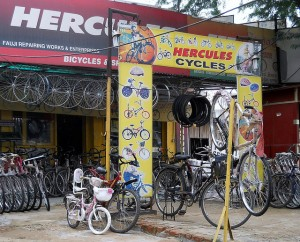 """Bicycle Shop in Gurgaon, India"" image by comprock (Michael Cannon)"