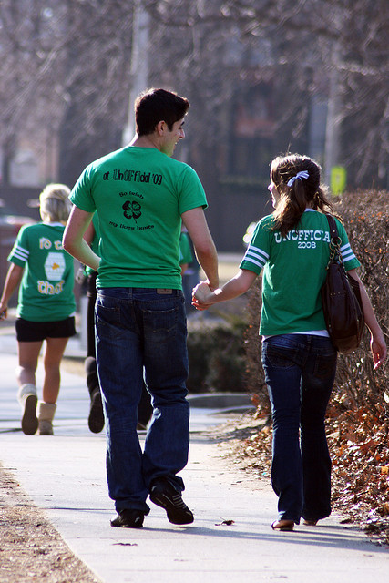 """Tall and Short on Unofficial St. Patrick's Day"" : image by quinn.anya (Quinn Dombrowski)"