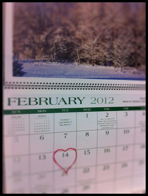 """Valentine Day on a Calendar"" image by Daniel Moyle (danielmoyle)"