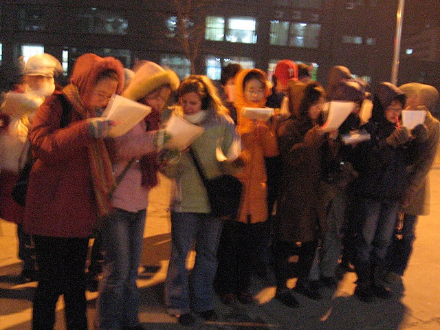 """Outdoor Caroling at Night"" image by The Wu's Photo Land"