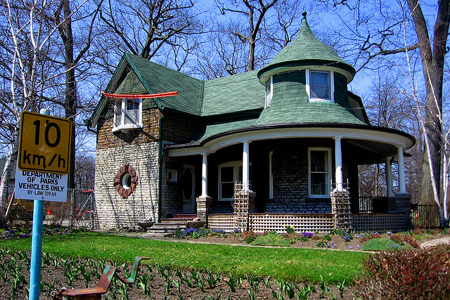 """Old House in Kew Gardens in Toronto"" by John Vetterli"