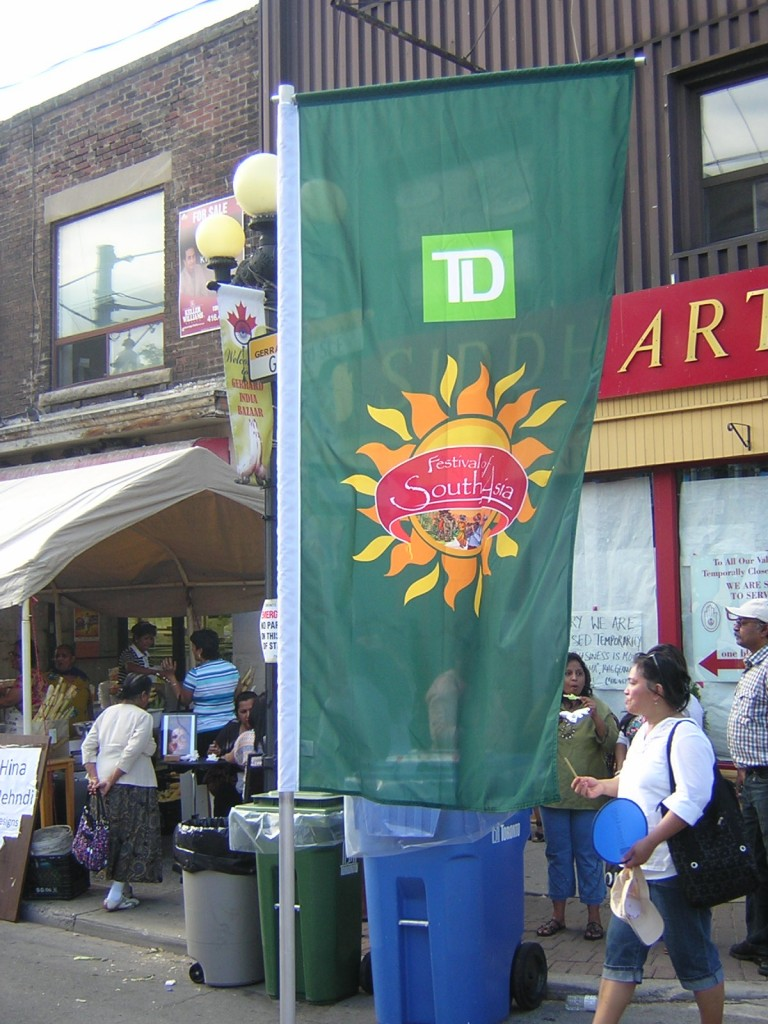 """TD Festival of South Asia Banner"" image by Mike DeHaan"