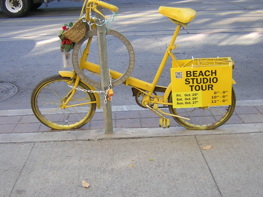 """Beach Studio Tour Bike Oct. 2013"" image (c) by Mike DeHaan"