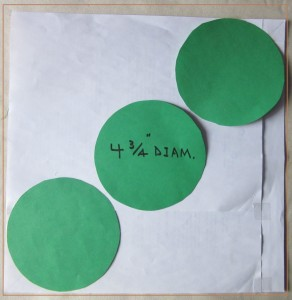 """3 Circles Fitting into a Unit Square"". Copyright image by Mike DeHaan."