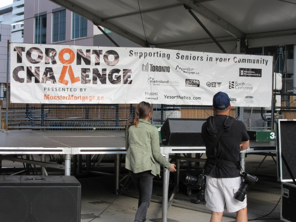 """Setting the stage for the 2015 Toronto Challenge 5Km Charity Run"" image (c) by Mike DeHaan"