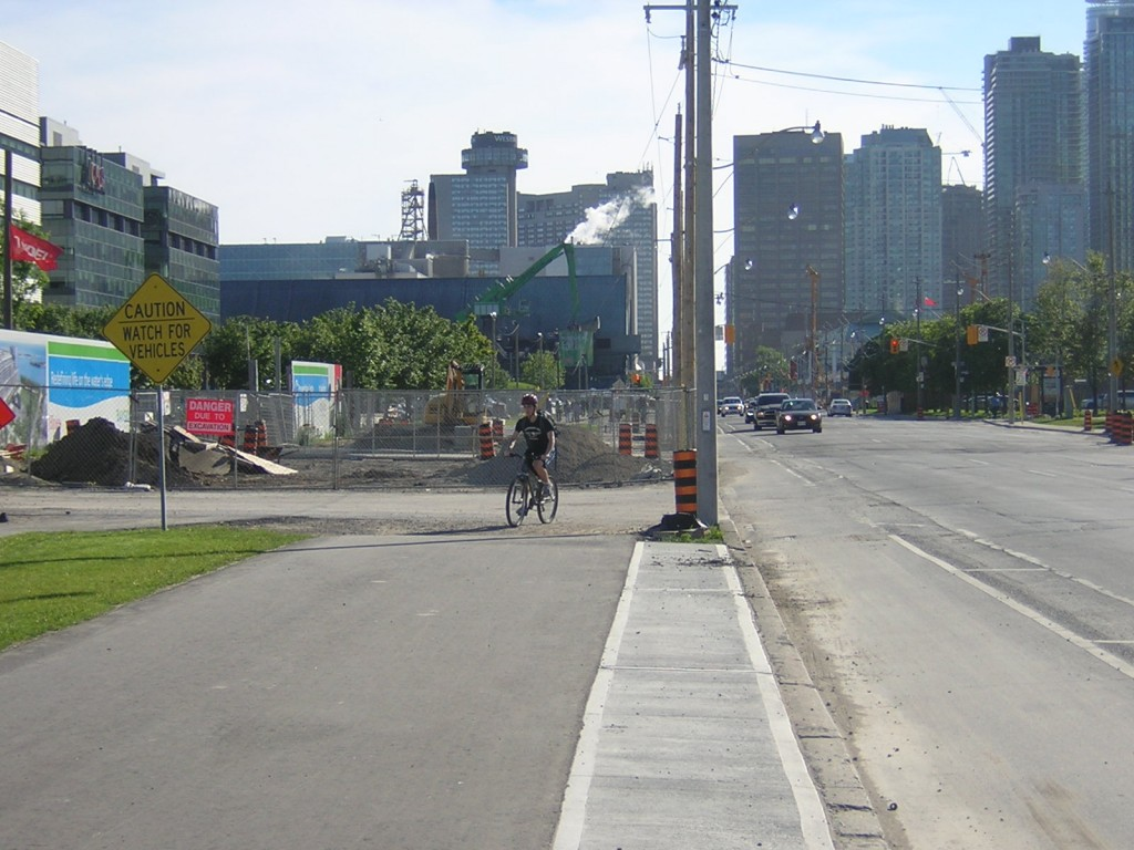 """The Martin Goodman Trail interrupted on Queens Quay"" image (c) by Mike DeHaan"