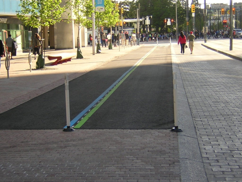 """An Orphan Section of the Martin Goodman bike path on Queens Quay"" image (c) by Mike DeHaan"