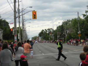 """Glimpse of the Canada Day Parade Leaders"" image (c) by Mike DeHaan"