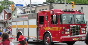 """Fire Truck in the East York Canada Day Parade"" image (c) by Linda DeHaan"