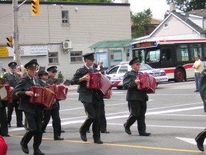 """A military accordion band in the Canada Day parade"" image (c) by Mike DeHaan"