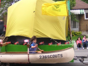 """""""Boy Scouts in the Canada Day Parade"""" image (c) by Mike DeHaan"""
