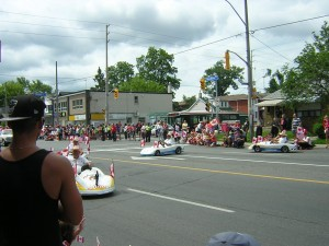 """Shriners Mini-Cars in the Canada Day Parade"" image (c) by Mike DeHaan"