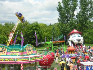 """Midway Rides at Stan Wadlow Park on Canada Day"" image (c) by Mike DeHaan"
