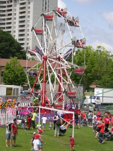 """Ferris Wheel at Stan Wadlow Park on Canada Day"" image (c) by Mike DeHaan"