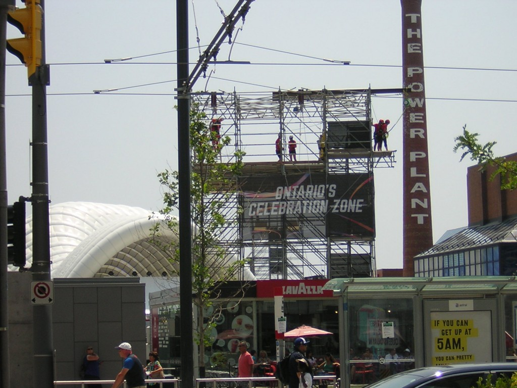 """""""The TO2015 Zip Line at the Harbourfront Power Plant in Toronto"""" image (c) by Mike DeHaan"""