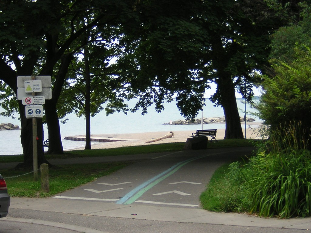 """Looking south-east onto the Martin Goodman Trail from Fernwood"" image (c) by Mike DeHaan"