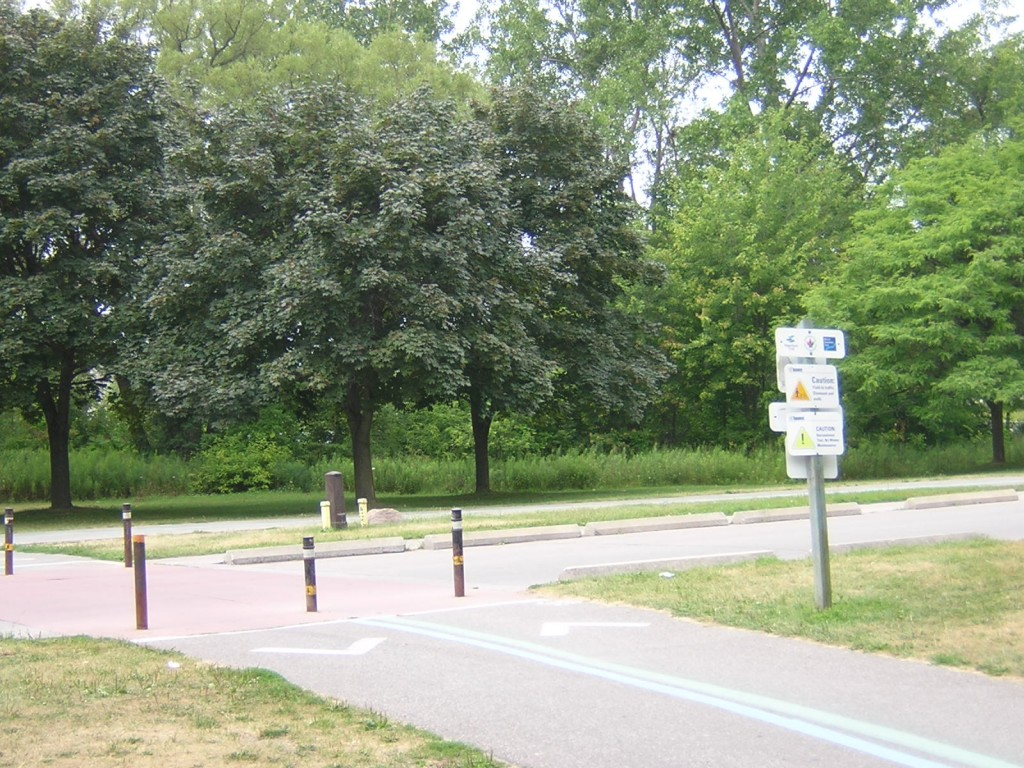 """Meeting the Ashbridges Bay Park Road from the Martin Goodman Trail"" image (c) by Mike DeHaan"