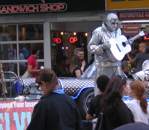 """Silver Elvis at Buskerfest 2015"" image (c) by Mike DeHaan"