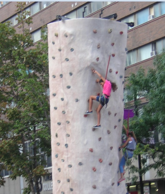 """Climbing the Wall at Buskerfest 2015"" image (c) by Mike DeHaan"