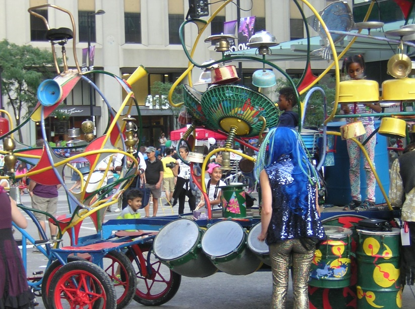 """The Bike Percussion Instrument at Buskerfest 2015"" image (c) by Mike DeHaan"