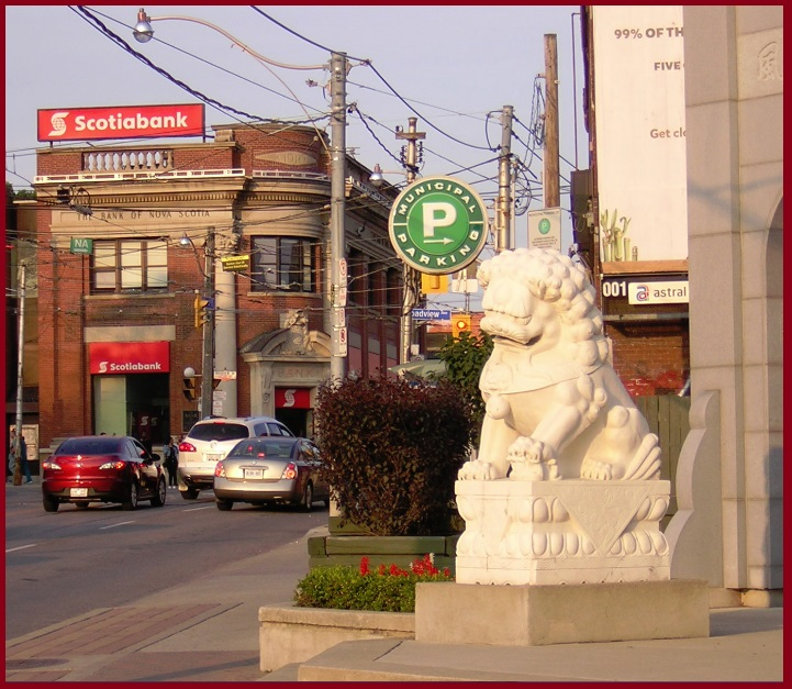 """Toronto Chinese Lion Looking for Pedestrians"" image (c) by Mike DeHaan"