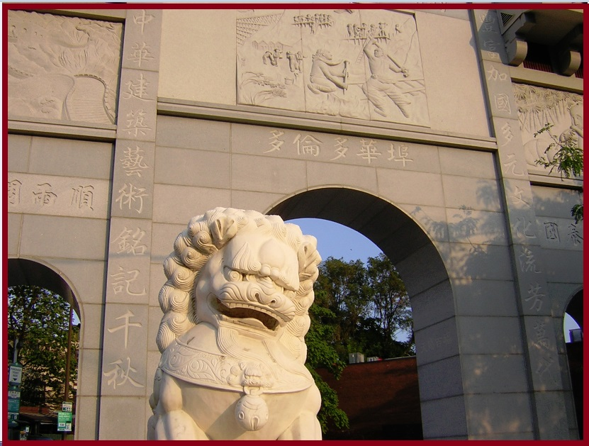 """Toronto Chinese Archway and one Lion"" image (c) by Mike DeHaan"
