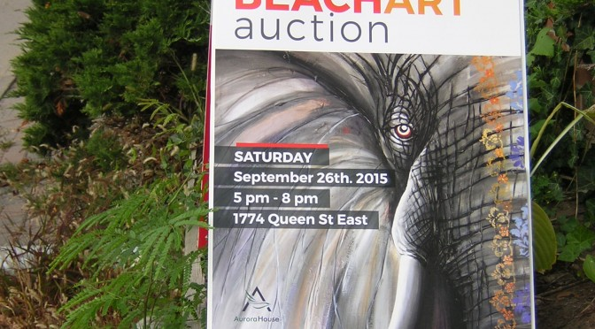 Beach Art Auction long before the Autumn 2015 Beach Studio Tour